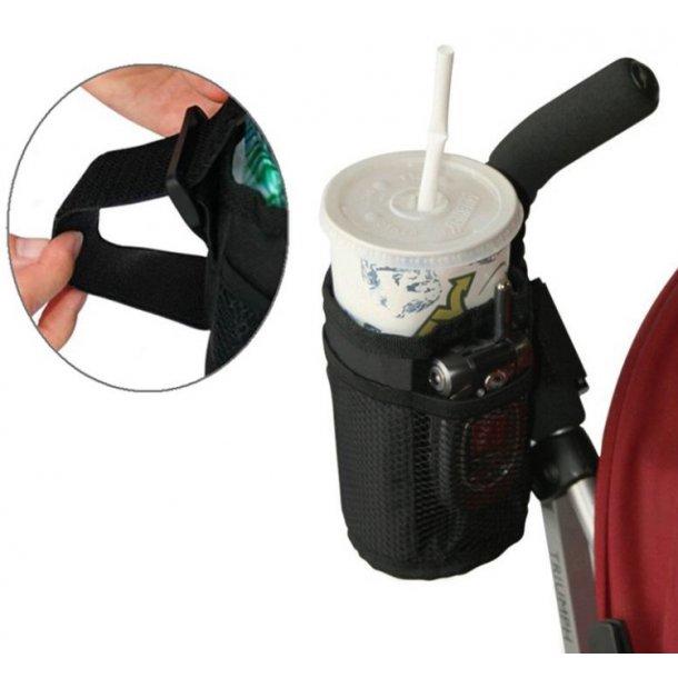 Smart holder til kaffekop, drikkedunk, vandflaske til barnevogn / cykel