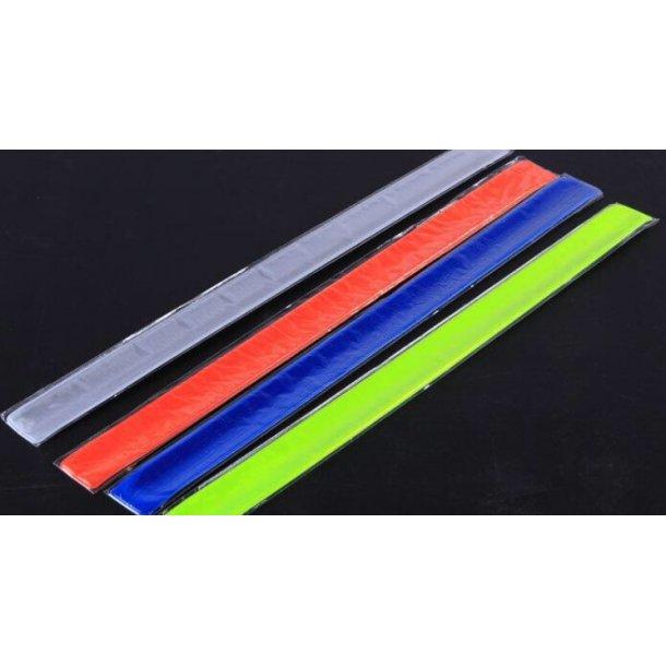 Refleksbånd til bukseben / jakke Slap Wrap refleks. Ekstra lange (40 cm) og særdeles kraftige