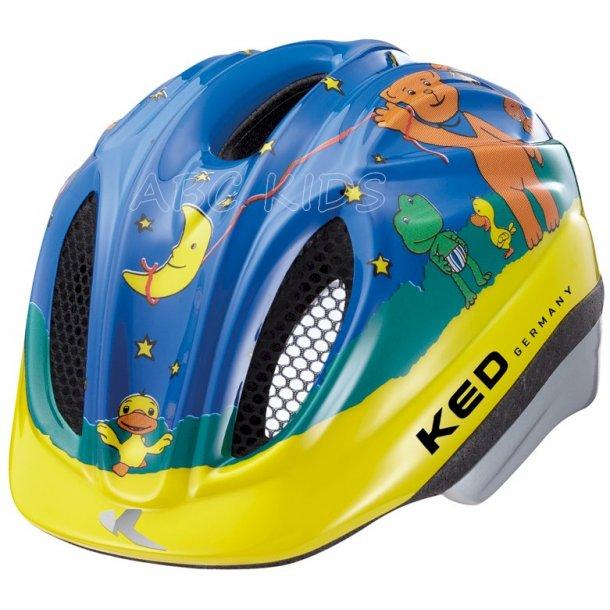 Børnecykelhjelm KED med indbygget LED lys