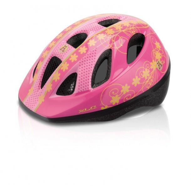 Pink Prinsesse cykelhjelm str. 49-54